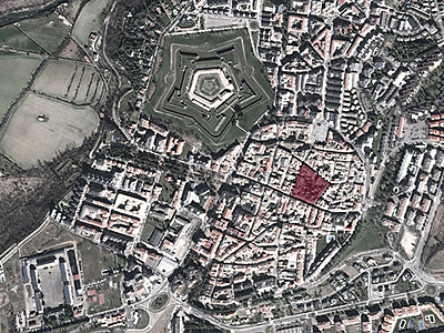 "La plaza mayor de Jaca en la segunda fase de la ""Driehaus Competition"""